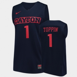 Men Dayton Flyers Obi Toppin College Basketball Navy Jersey