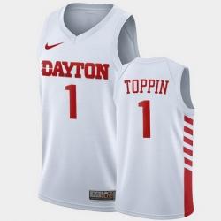 Men Dayton Flyers Obi Toppin College Basketball White Jersey