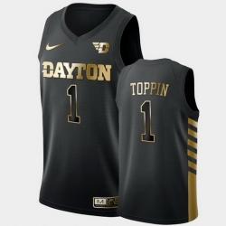 Men Dayton Flyers Obi Toppin Golden Edition Black Limited Jersey