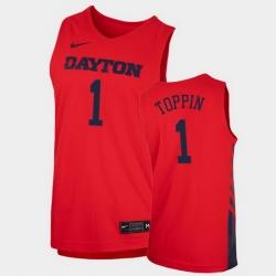 Men Dayton Flyers Obi Toppin Replica Red College Basketball 2020 21 Jersey