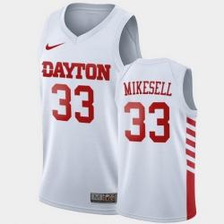 Men Dayton Flyers Ryan Mikesell College Basketball White Jersey