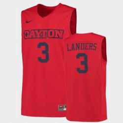 Men Dayton Flyers Trey Landers College Basketball Red Jersey 0A