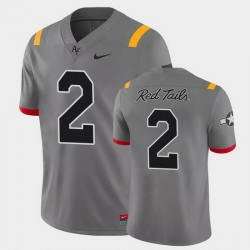 Men Air Force Falcons Elisha Palm Game Anthracite Red Tails Alternate Jersey
