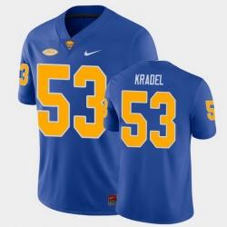 Men Pitt Panthers Jake Kradel College Football Royal Game Jersey