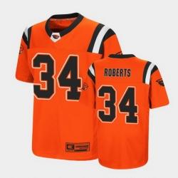 Men Oregon State Beavers Avery Roberts Replica Orange College Football Jersey