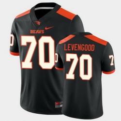 Men Oregon State Beavers Jake Levengood College Football Black Game Jersey
