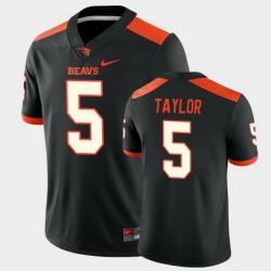Men Oregon State Beavers Kolby Taylor College Football Black Game Jersey