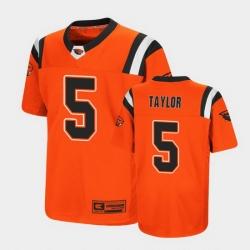 Men Oregon State Beavers Kolby Taylor Replica Orange College Football Jersey