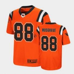 Men Oregon State Beavers Luke Musgrave Replica Orange College Football Jersey