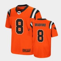 Men Oregon State Beavers Trevon Bradford Replica Orange College Football Jersey