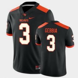 Men Oregon State Beavers Tristan Gebbia College Football Black Game Jersey