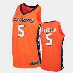 Men Illinois Fighting Illini André Curbelo Replica Orange College Basketball Jersey