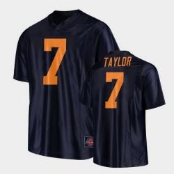 Men Illinois Fighting Illini Coran Taylor Replica Football Black Jersey