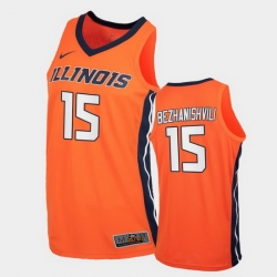 Men Illinois Fighting Illini Giorgi Bezhanishvili Replica Orange College Basketball Jersey