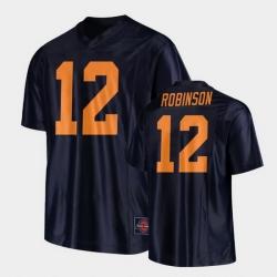 Men Illinois Fighting Illini Matt Robinson Replica Football Black Jersey