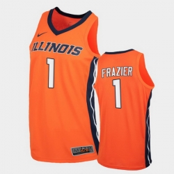 Men Illinois Fighting Illini Trent Frazier Replica Orange College Basketball Jersey