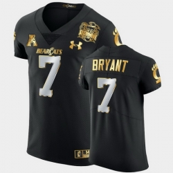 Men Cincinnati Bearcats Coby Bryant 2021 Peach Bowl Black Golden Edition Jersey