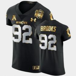 Men Cincinnati Bearcats Curtis Brooks 2021 Peach Bowl Black Golden Edition Jersey