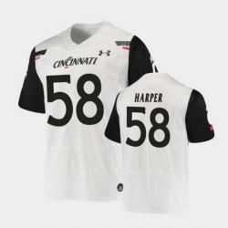 Men Cincinnati Bearcats Darius Harper Replica White Football Jersey