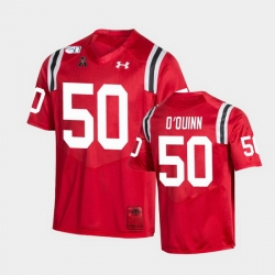 Men Cincinnati Bearcats Dylan O'Quinn College Football Red Game Replica Jersey