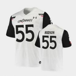Men Cincinnati Bearcats James Hudson Replica White Football Jersey