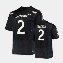 Men Cincinnati Bearcats Jayshon Jackson Replica Black Football Jersey