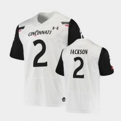 Men Cincinnati Bearcats Jayshon Jackson Replica White Football Jersey