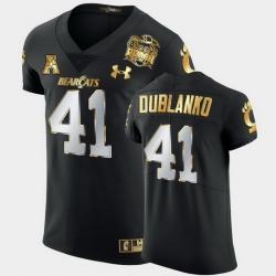Men Cincinnati Bearcats Joel Dublanko 2021 Peach Bowl Black Golden Edition Jersey