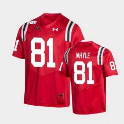 Men Cincinnati Bearcats Josh Whyle College Football Red Game Replica Jersey