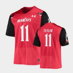 Men Cincinnati Bearcats Leonard Taylor Replica Red Football Jersey