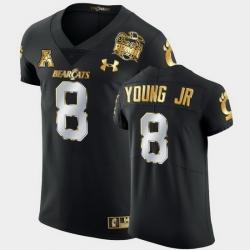 Men Cincinnati Bearcats Michael Young Jr. 2021 Peach Bowl Black Golden Edition Jersey