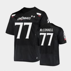 Men Cincinnati Bearcats Vincent Mcconnell Replica Black Football Jersey