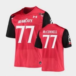 Men Cincinnati Bearcats Vincent Mcconnell Replica Red Football Jersey