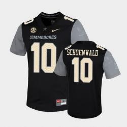 Men Vanderbilt Commodores Gavin Schoenwald Untouchable Black Game Jersey