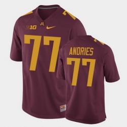Men Minnesota Golden Gophers Blaise Andries Replica Maroon College Football Jersey