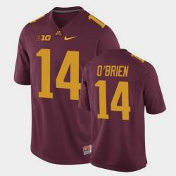 Men Minnesota Golden Gophers Casey O'Brien Replica Maroon College Football Jersey