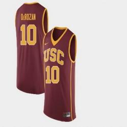 Men Demar Derozan College Basketball Maroon Retired Number Jersey