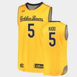 Men Jason Kidd College Basketball Gold Jersey