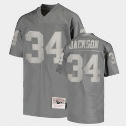 Men Las Vegas Raiders Bo Jackson Replica Charcoal Retired Player Jersey