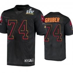Men Paul Gruber Tampa Bay Buccaneers Black Super Bowl Lv Jersey