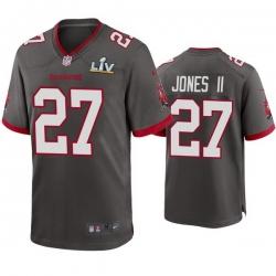 Men Ronald Jones Ii Buccaneers Pewter Super Bowl Lv Game Jersey