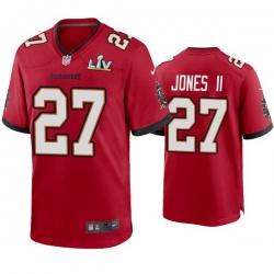 Men Ronald Jones Ii Buccaneers Red Super Bowl Lv Game Jersey