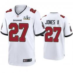 Men Ronald Jones Ii Buccaneers White Super Bowl Lv Game Jersey