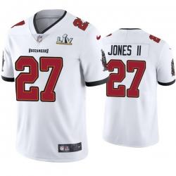 Men Ronald Jones Ii Buccaneers White Super Bowl Lv Vapor Limited Jersey