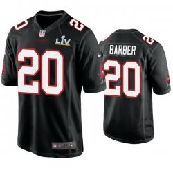 Men Ronde Barber Buccaneers Black Super Bowl Lv Game Fashion Jersey
