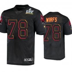 Men Tristan Wirfs Tampa Bay Buccaneers Black Super Bowl Lv Jersey
