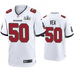 Men Vita Vea Buccaneers White Super Bowl Lv Game Jersey