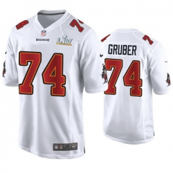 Paul Gruber Buccaneers White Super Bowl Lv Game Fashion Jersey