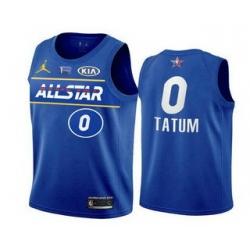 Men 2021 All Star 0 Jayson Tatum Blue Eastern Conference Stitched NBA Jersey