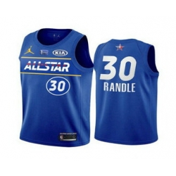 Men 2021 All Star 30 Julius Randle Blue Eastern Conference Stitched NBA Jersey